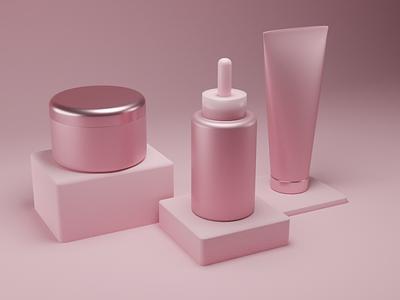 3D Cosmetics | Blender skincare pink blender blender3d cosmetics 3d