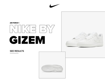 Nike By Gizem ecommerce sneakers sneaker yellow pink white black gradient colors webdesign website nike air nike fashion figma design