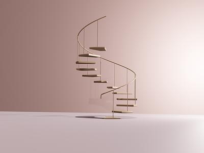 3D Staircase | Blender smooth design blender3d blender 3d rose gold gold rose pink