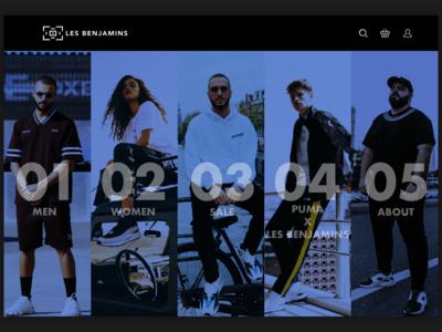 Experiment | Les Benjamins ui ui design website webdesign desktop ecommerce fashion