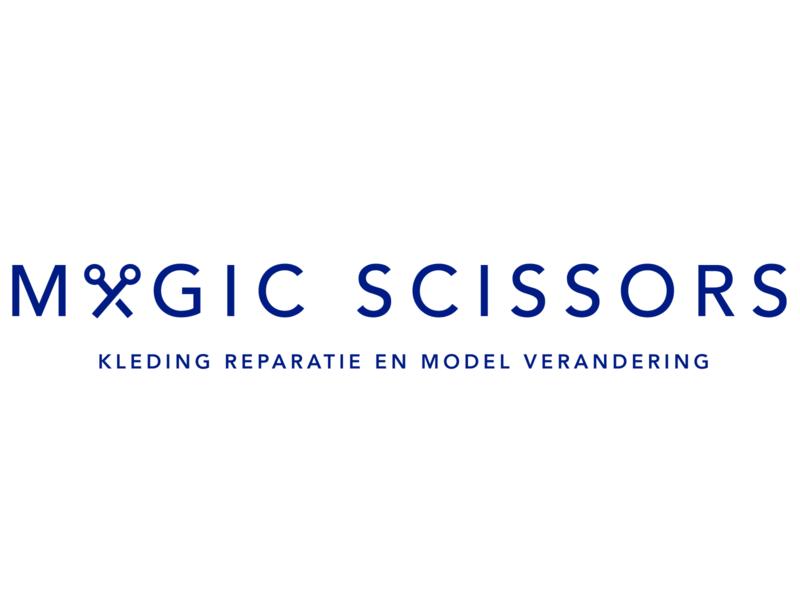 Redesign Logo | Magic Scissors minimalism fashion brand design logo