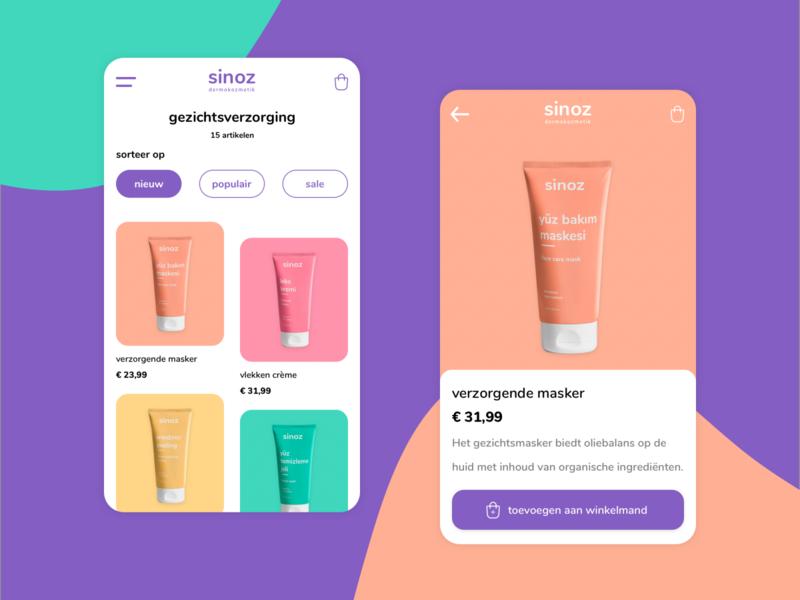 Experiment | Sinoz mobile ux uiux ui design logo ecommerce beauty