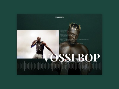 Experiment | Stormzy - Heavy Is The Head clean minimal digital dark webdesign hiphop music player music