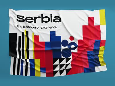 Serbia Technology Fair vector identity design branding serbia