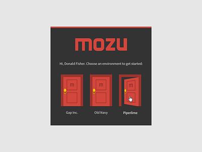 Mozu Launch Pad launch pad doors flat ui