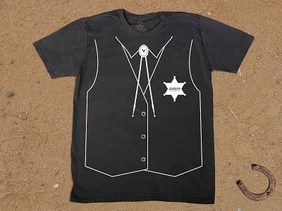 Sheriff Tee western sheriff vest bolo tie badge