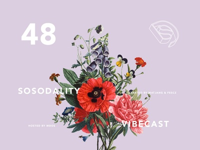 Sosodality vibecast cover #048 flowers album cover mixtape music baile baile funk podcast vibecast sosodality