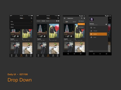 Daily UI 027 Drop Down