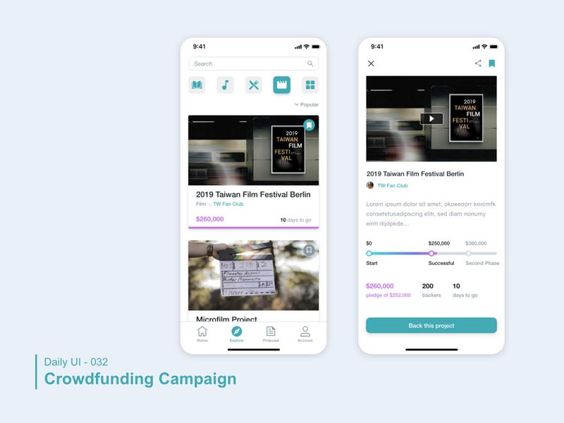 Daily UI 032 Crowdfunding Campaign campaign crowdfunding dailyui 032 dailyui 100