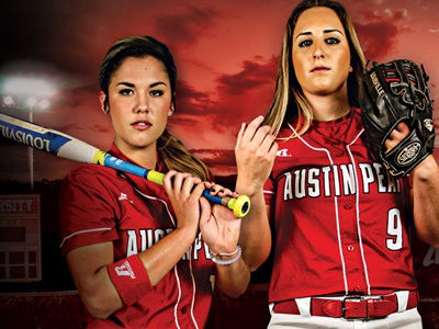APSU Softball Poster sports poster governors peay austin softball