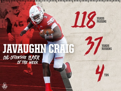 Javaughn Craig OVC OPOW graphic governors austin peay ncaa football