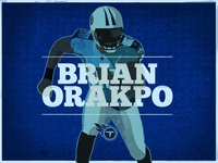 Brian Orakpo Illustration