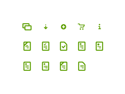 Custom icon set icons