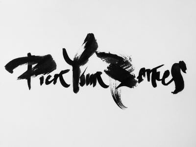 Pick your battles typo brush handtype typography lettering handwritten calligraphy