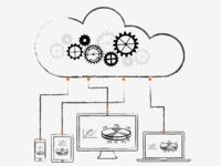Cloud apps illustration concept