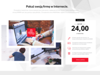 Web store homepage