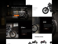 Harley Davidson page concept