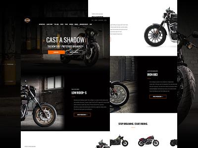 Harley Davidson page concept ux user interface ui page minimal layout landing flat design website webdesign