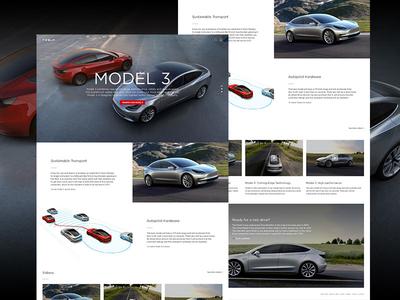 Tesla Web Design Concept landing page cars website webdesign user interface ui page minimal layout landing flat design
