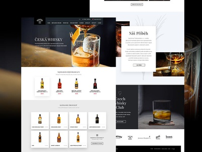Ceska Whisky web design web design landing page web website webdesign minimal layout landing ecommerce eshop design whisky