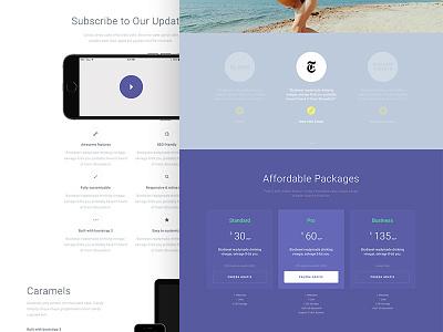 App template — Initial Design simle webdesign layout ui design app template