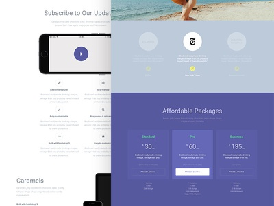 App template — Initial Design simle webdesign layout ui design app template