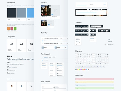 Lexicon UI Kit guidelines grid simple clean webdesign brand ui