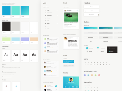 LINC Style Guide brand color palette design system elements navigation style guide styles toolkit ui web