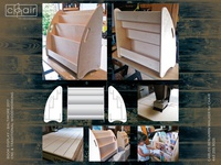 Book Display for chair furniture