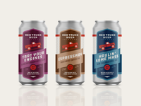 Red Truck Beer Company Packaging –473mL Tall Can Series