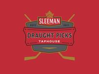 Sleeman Draught Picks Taphouse –Logo