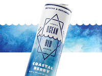 Ocean Blu Vodka Soda Packaging – Option 6