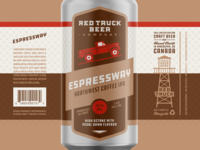Red Truck Beer Company Packaging – Espressway – 473mL