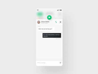 xStation Mobile - Chat&Call interaction motion 2020 app call interaction message chat exchange mobile ae animation ux ui product design