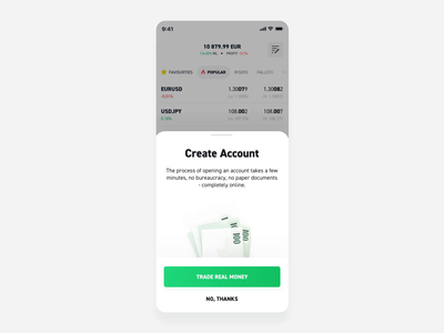 xStation Mobile - Pop-up animation animated button cash money forex ios app crypto button motion conversion popup confetti finance after effect animation ux ui product design
