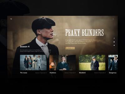 Peaky Blinders Welcome screen