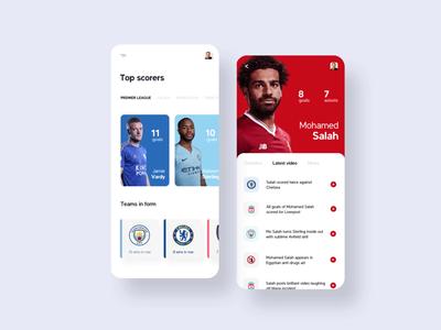Football app interaction
