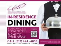 In Room Dining Service Billboard