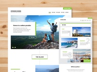 Adventure website design