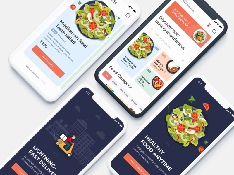Food Order/Delivery Application Concept ux design ui  ux uiux uidesign ui food delivery food app ios design app screen app mobile application design application app design app kuljeet chaudhary