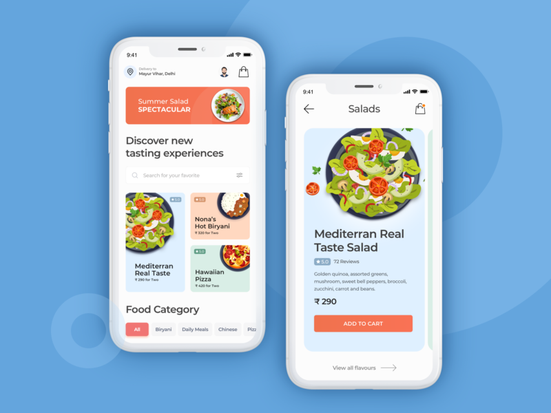 Rebound - Food Order/Delivery Application Concept kuljeet chaudhary uxdesign ui  ux uiux ui design ui android app design icon ui web ios guide deisgn app screen app mobile application design app design app ui