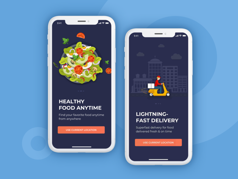 Rebound - Food Order/Delivery Application Concept ux design ux uiux ui app ui ios app design icon ui web ios guide app designer app screen app mobile application design application app design app