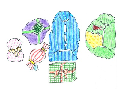 Wrapped Gifts illustration