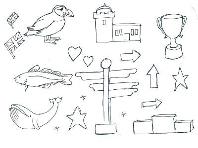 UK icons and landmarks 1 illustration