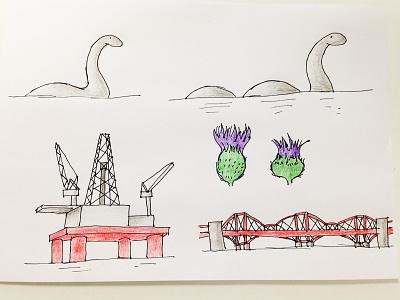 UK icons and landmarks 3 illustration