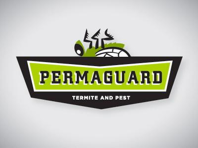 Permaguard Logo bug fly green death logo