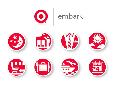 Target Embark Luggage Icons icons suitcase red icon design