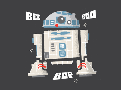 R2 D2 Dribbble luke skywalker x-wing astromech robot star wars droid