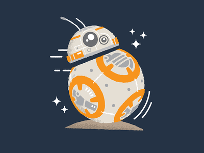 BB-8 Dribbble luke skywalker x-wing astromech robot star wars droid