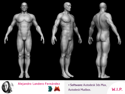 3D Character Modeler - Human cinema trailer games videogames videogame mudbox max autodesk human modeler character 3d